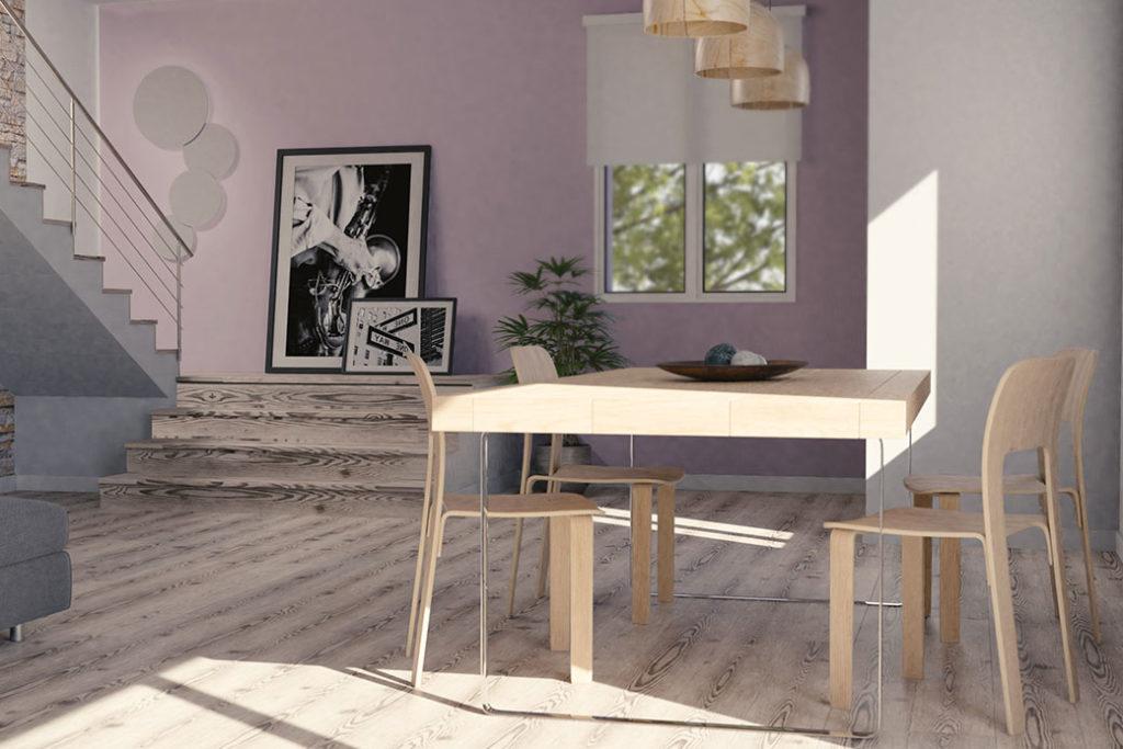 foto interno casa nuova a Mirandola - soggiorno